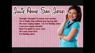 Glad It's Over - Julie Anne San Jose | Lyrics