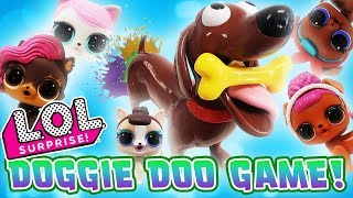 LOL Surprise Dolls Doggie Doo Game Unboxing! With Queen Bee, LOL Pets Miss Puppy, & Dollmatian! - Video Youtube