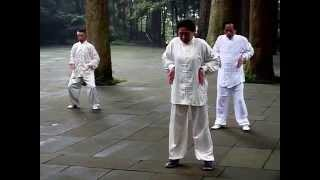 preview picture of video 'Taichi exercise at Chunyan Dian Temple, Emei Shan (Sichuan, China)'