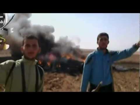 الجيش السوري الحر يسقط  طائرة من طراز سوخوي