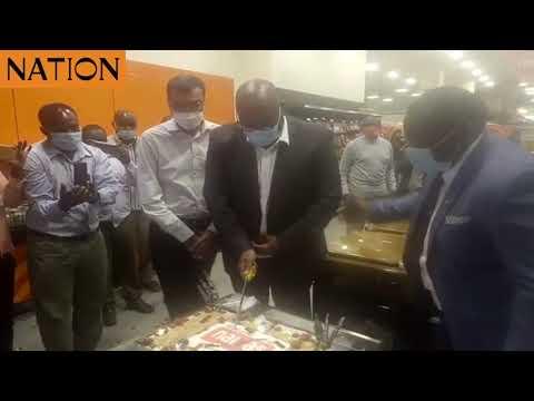 NMG CEO Stephen Gitagama opens the 67th Naivas branch in the Nairobi CBD