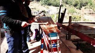Marimba de San Sebastian tocado en Todos Santos.