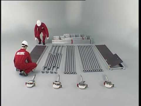 ALTEC Alulight Typ 70 neuer Rollgerüst Sicherheitsaufbau