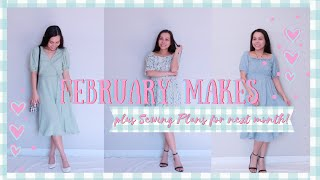 February Makes | Stylish and Pretty Dresses I made this month! ❤️😍🥰 DIY, Sewing & Style