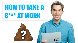 John Mulaney Teaches You How to Take a Sh*t at Work | GQ