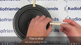 A new way of centering / refoam your foam surrounds! - with sound
