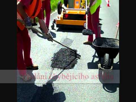 Opravy asfaltu - Recyklace za horka - infrared recyclation