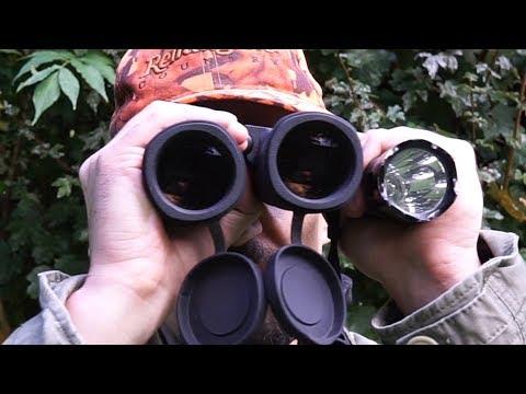 Jagen mit Rotlicht: Rotlichtlampe mit Fernglas nutzen