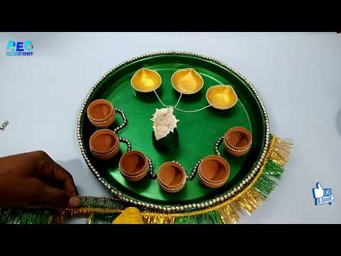 Amazing aarti thali decoration ideas || Diwali craft