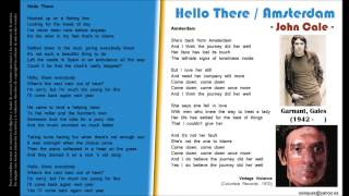 Hello There / Amsterdam - John Cale