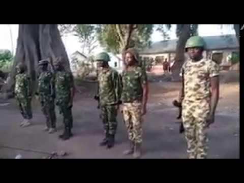 Nigerian army parade in hausa language