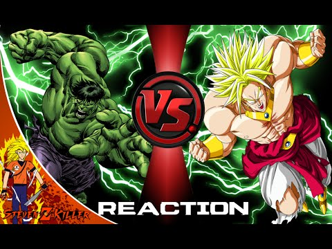 HULK vs. BROLY! Cartoon Fight Club Reaction
