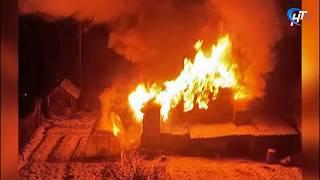 В Новгородской области за сутки произошло 5 возгораний в частном секторе