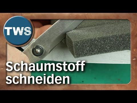 Tutorial: Schaumstoff schneiden / how to cut foam (Tabletop-Zubehör, TWS)