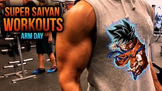 Super Saiyan Arm Blast Workout! - Biceps / Triceps/ Back Workout Routine - SuperSaiyanPaul