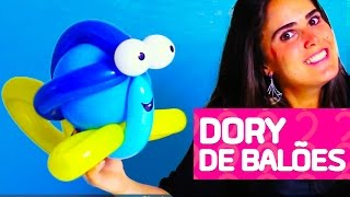 """Aprenda, passo a passo, como fazer a Dory do filme """"Procurando Nemo"""" e """"Procurando Dory"""" utilizando balões. Gostou? Dê Like e inscreva-se no canal Amo Festas by Pri Porto!  - INSCREVA-SE NO NOSSO CANAL: https://www.youtube.com/channel/UCE01O2N4oLxMV9BEstmG28g?sub_confirmation=1  - FACEBOOK: https://www.facebook.com/amofestas  - INSTAGRAM: https://instagram.com/amofestas"""