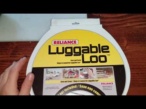 unboxing:Reliance Luggable Loo snap-on Toilet Seat with Lid for 5-gallon Bucket