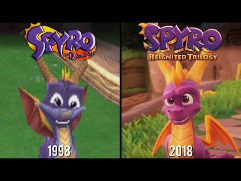 Spyro Reignited Trilogy vs Spyro the Dragon | Direct Comparison