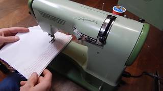 Elna Supermatic How To Thread, Changing Cams, Case Features, Buttonhole And Shirt Hemming
