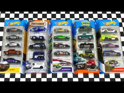 Opening Hot Wheels And Matchbox 5-Car Packs!