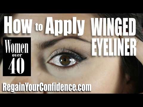 How To Apply Winged Eyeliner For Women Over 40 - Regain Your Confidence
