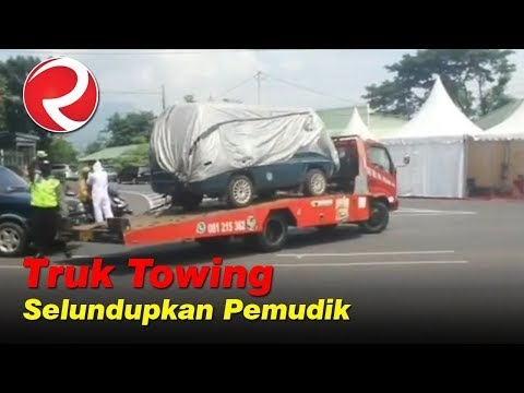 Dipergoki Polisi, Truk Towing Angkut Minibus Berisi Pemudik