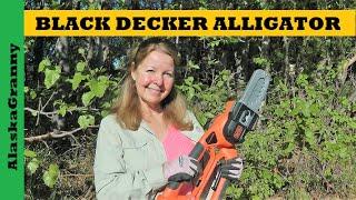 Black Decker Alligator Chainsaw Lopper Saw Review Battery Garden Chainsaw