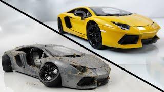 Restoration Abandoned Lamborghini - Old SuperCar Aventador Model Car Restoration