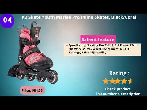 Best Top 8 Videos Inline Skates   Fitness Inline    Men & Women's   Boys Adjustable Roller Skate.