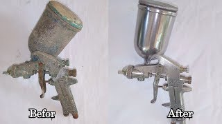 Old rusty Spray gun Restoration