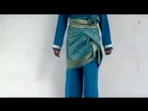 Video wear sarung melayu belt side II Cara memakai sarung melayu ikat samping