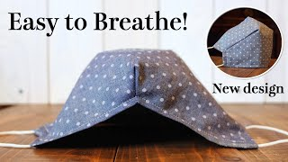 【Easy To Breathe】Face Mask With Filter Pocket Sewing Tutorial - Big Space Mask