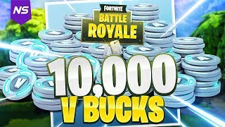 SURPRISING YOUNG KID WITH 10,000 VBUCKS! (Fortnite Battle Royale)