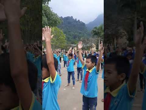Hoạt động tập thể giữa giờ của Liên đội trường Tiểu học Minh Khương