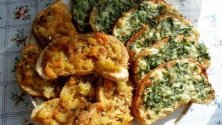 Смотреть онлайн 2 рецепта праздничных бутербродов на скорую руку