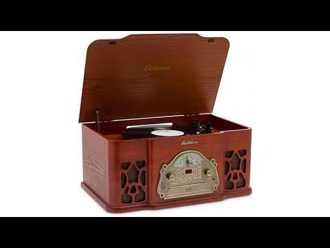 Electrohome Winston Vinyl Record Player 3-in-1 Classic Turntable Natural Wood Stereo Sy...