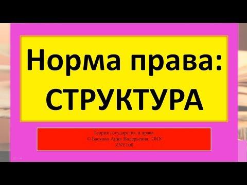 Норма права - Структура. ТГП ZNY100