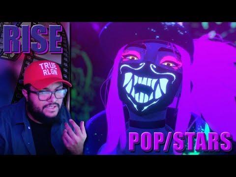 K/DA - POP/STARS(ft Madison Beer, (G)I-DLE, Jaira Burns) & RISE ft. BOBBY of iKON MV REACTION!!!