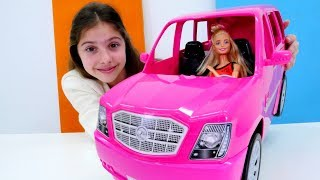 Полен - продавец автомобилей. Видео для девочек с Барби
