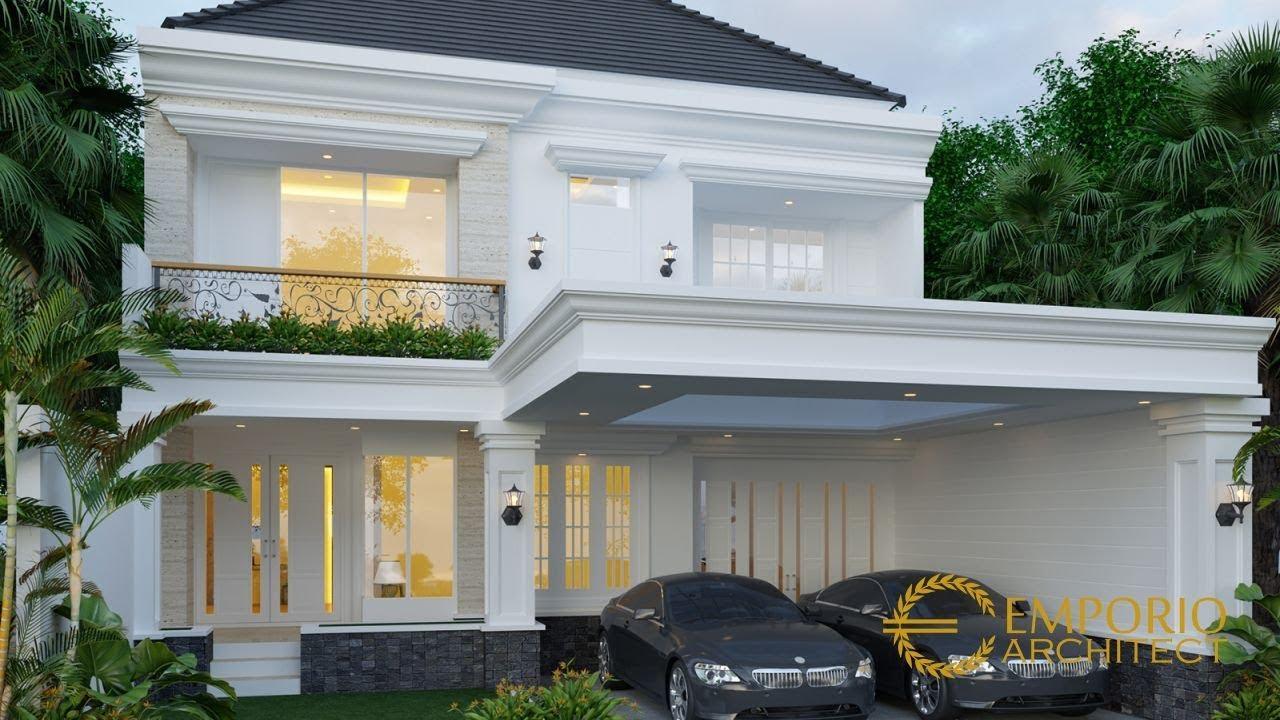Video 3D Desain Rumah Classic 2 Lantai Ibu Diana di Jakarta