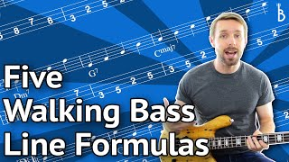 Walking Bass Line Lesson: 5 Plug-And-Play Formulas You Can Use Right Now