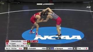 141lbs: Yianni Diakomihalis (Cornell) dec Pete Lipari (Rutgers)
