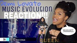 Demi Lovato - Music Evolution // REACTION!!!!!