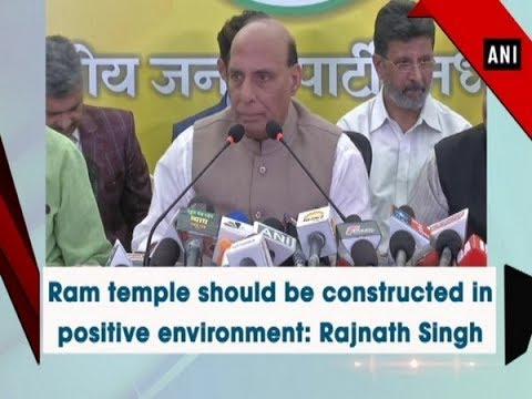 Ram temple should be constructed in positive environment: Rajnath Singh - Madhya Pradesh #News