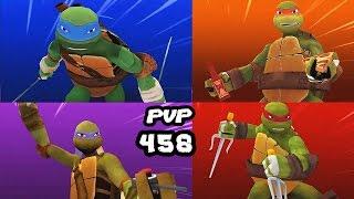 TMNT Legends PVP 458 (Leonardo, Michelangelo, Raphael, Donatello)