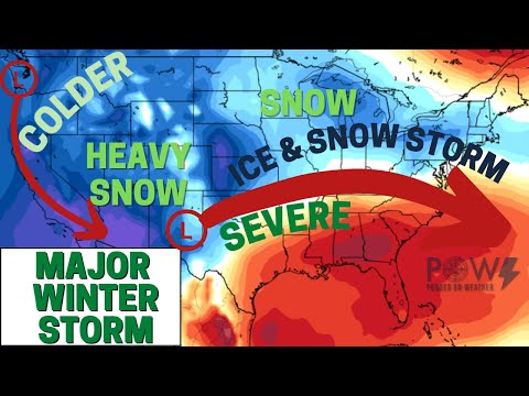 Major Winter Storm! Ice Storm & Heavy Snow! - POW Weather Channel