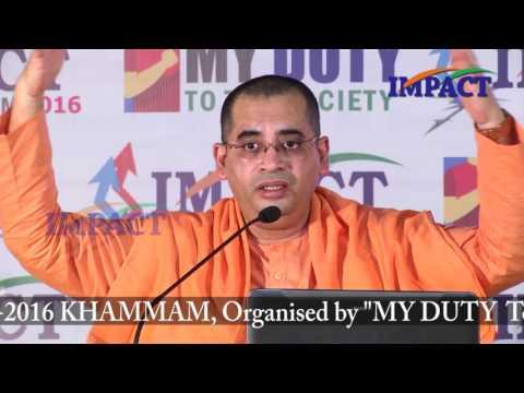 Implementation|Swami Bodhamyananda|TELUGU IMPACT Khammam 2016