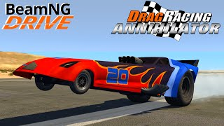 BeamNG DRIVE Annihilator Drag Racing Car Speed record