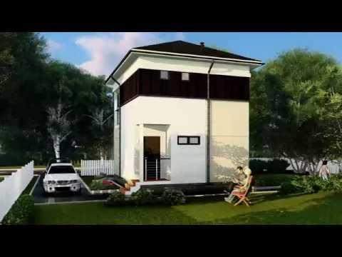 Каркасно-модульный двухэтажный дом 75м2 - Mонтереи