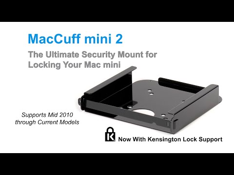 MacCuff mini 2 - The Ultimate Security Mount for Locking Your Mac mini